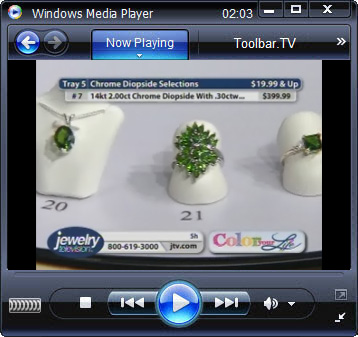 click RUN to watch Jewelry TV with Toolbar.TV