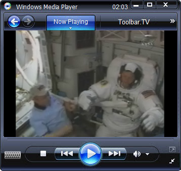 click RUN to watch NASA TV with Toolbar.TV