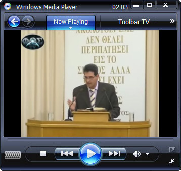 click RUN to watch Patras Church with Toolbar.TV